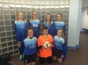 U16 girls football team